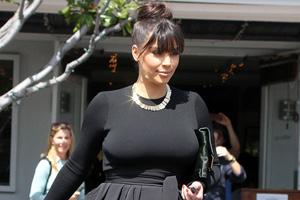 Kim Kardashian leaving Fred Segal