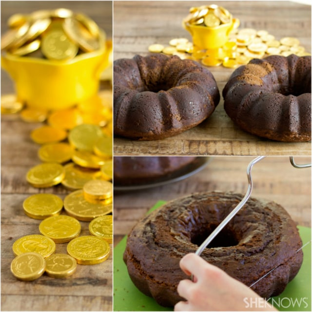 Pot of gold Bundt cake