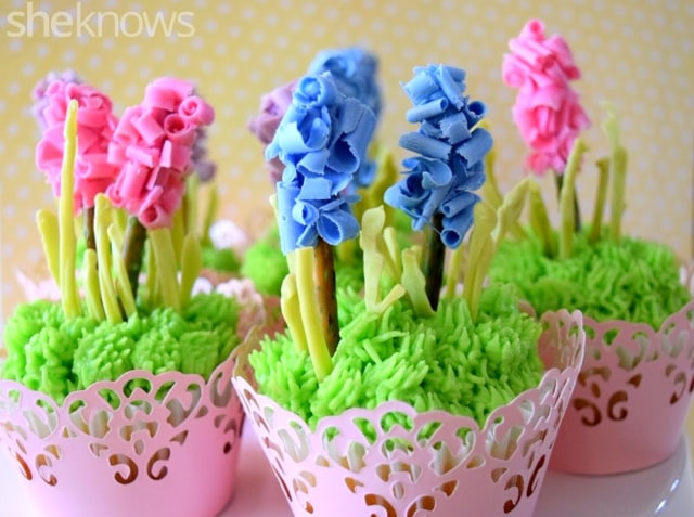 hyacinth cupcake toppers