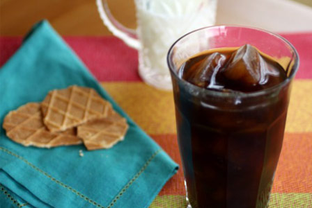 Ice cube coffee