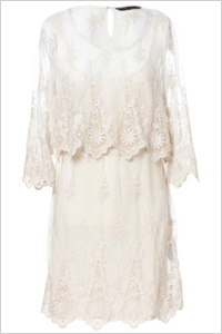 Zara white lace dress