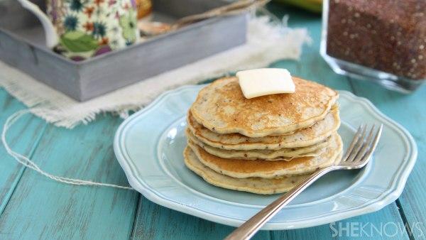 Healthier quinoa banana pancakes