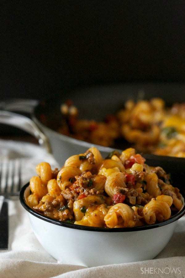 One skillet beef and mac