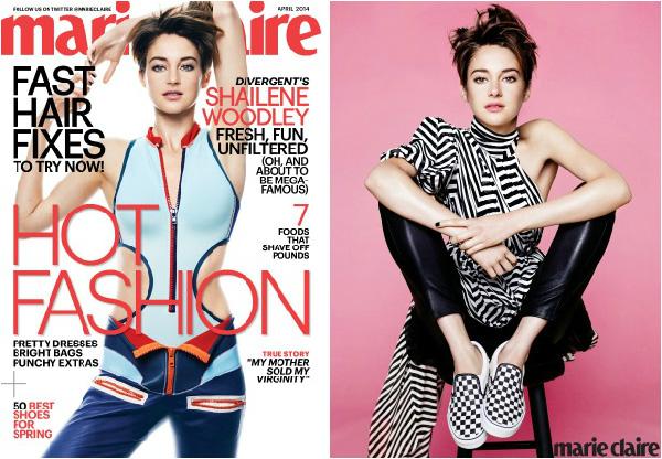 Shailene Woodley on Marie Claire