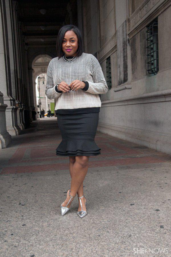 1 Sweatshirt Styled 3 Ways -- Heel and skirt