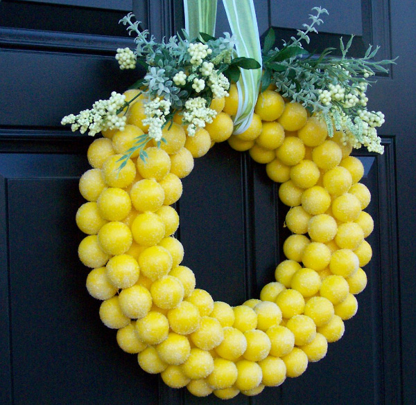Bright ping pong wreath