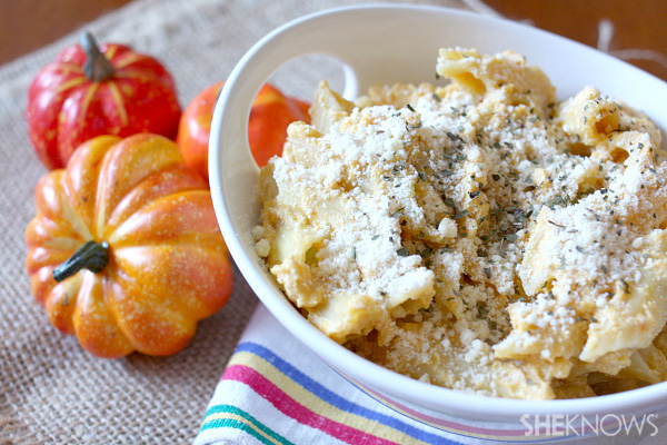 Pumpkin and ricotta pasta casserole