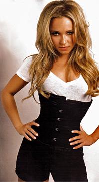 Hayden Panettiere in a corset