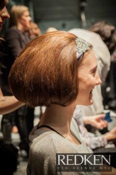 Retro hair at Toronto Fashion Week