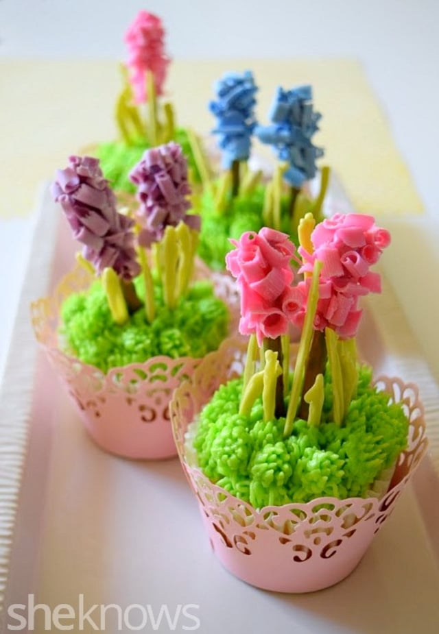 Hyacinth Cupcakes for Spring