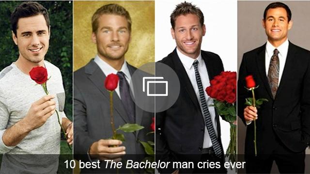 Bachelor man cries slideshow