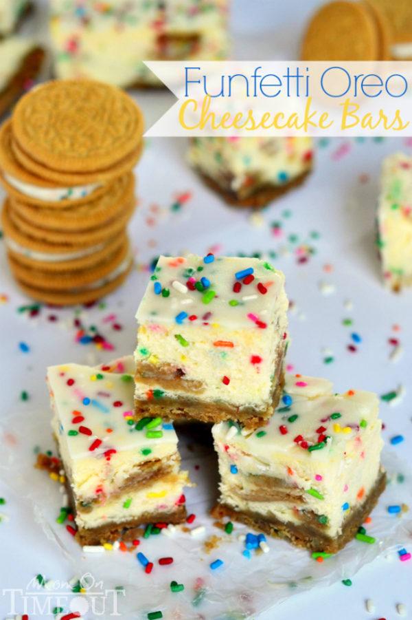 Funfetti Oreo cheesecake bars