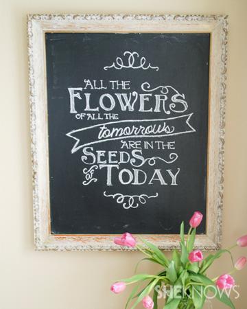 Chalkboard quote tutorial