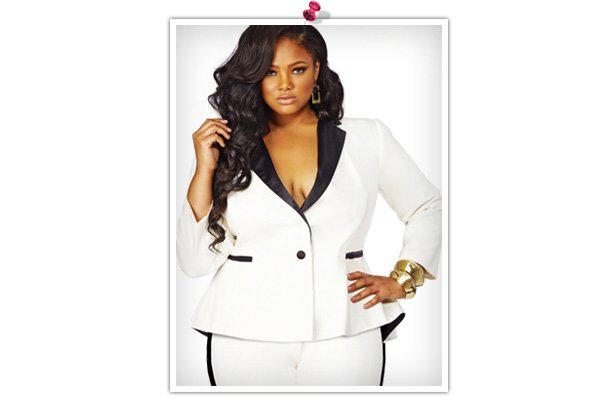 Glitzy holiday outfits for the plus-size woman -- Suits