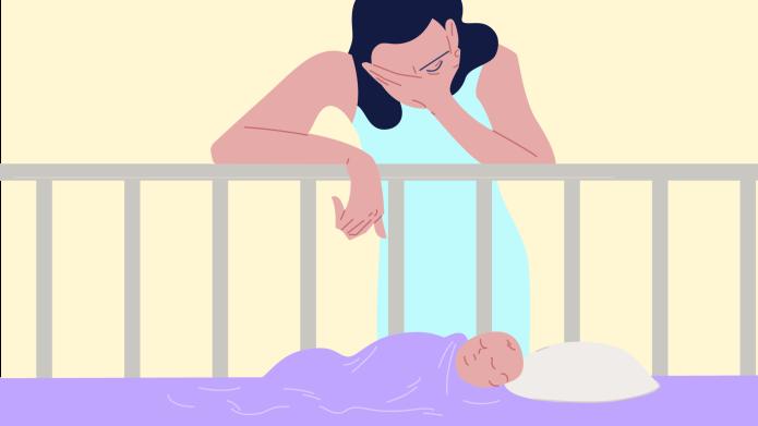 Mother postpartum insomnia