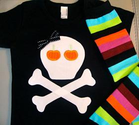 Pumpkin patch skull t-shirt