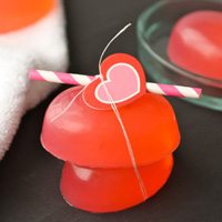 DIY pink peppermint glycerin soap