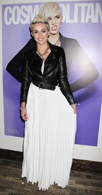 Miley Cyrus at NYFW 2013