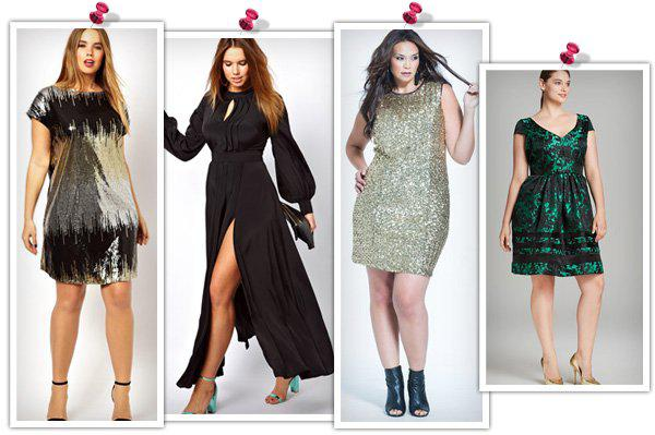 Glitzy holiday outfits for the plus-size woman -- Dresses