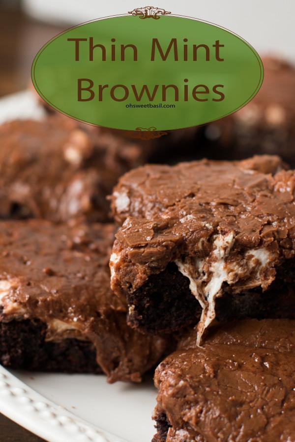 Thin mint Mississippi mud brownies
