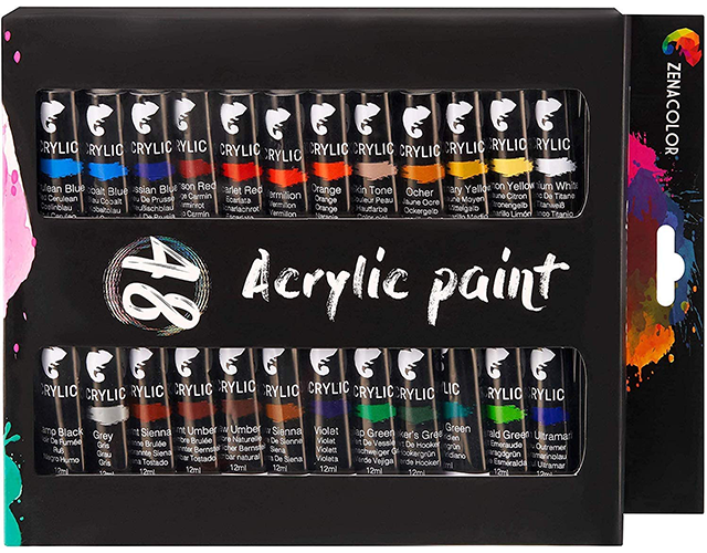 Zenacolor Best Acrylic Paint Sets on Amazon