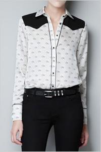 Horse print blouse (Zara, $60)