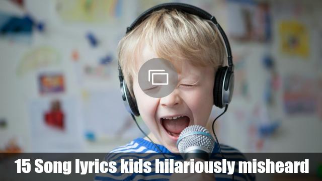 Song lyrics kids mishear