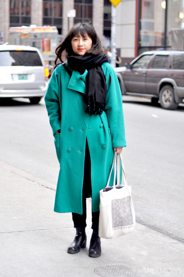 Keep the rest of your ensemble simple when you wear a statement coat.