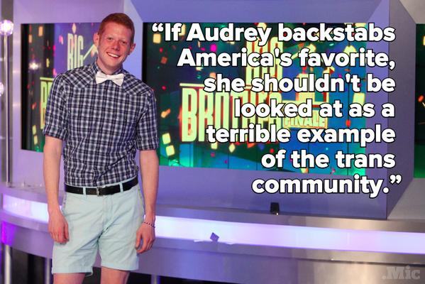Tweet about Audrey Big Brother