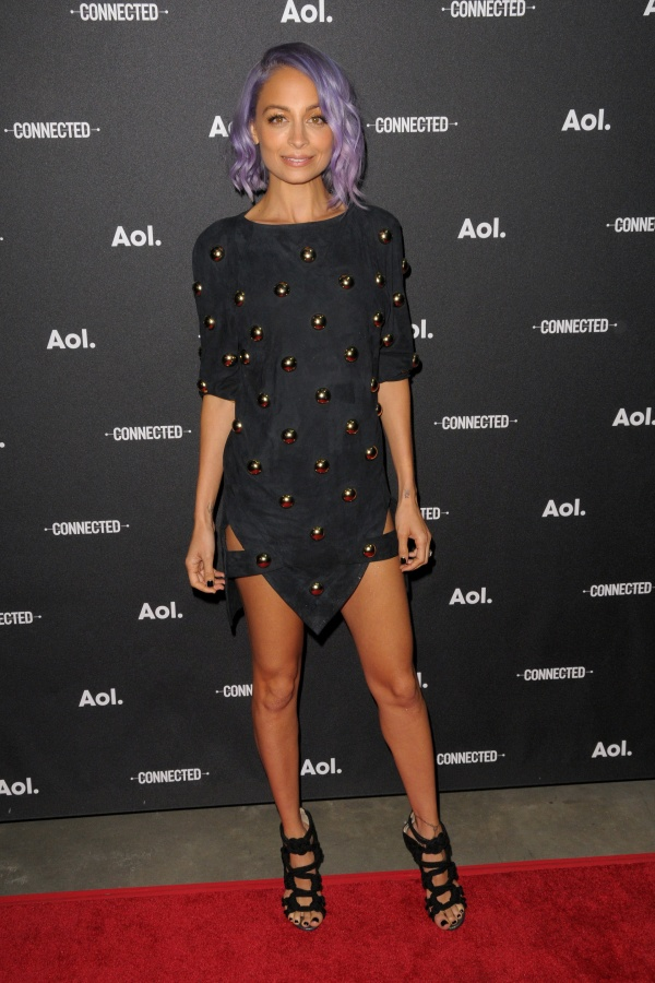 Nicole Richie at the AOL Upfronts