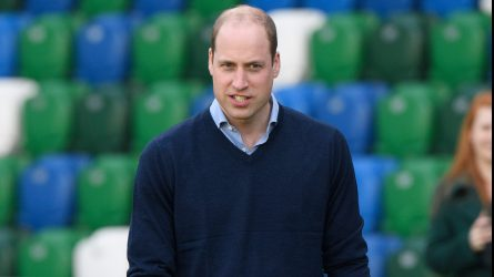 Prince William visits the Irish Football