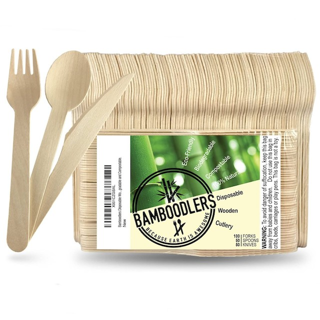 BAMBOODLERS Disposable Wooden Cutlery