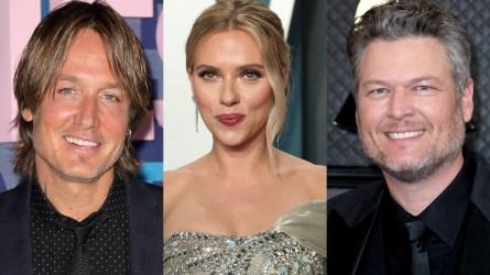 Scarlett Johansson, Blake Shelton, Keith Urban