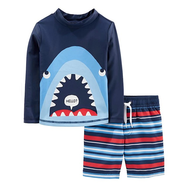 Carter's Baby and Toddler Boys' 2-Piece Swimsuit Trunk and Rashguard
