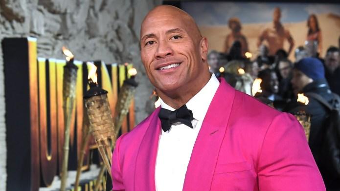 Dwayne johnson pink tuxedo