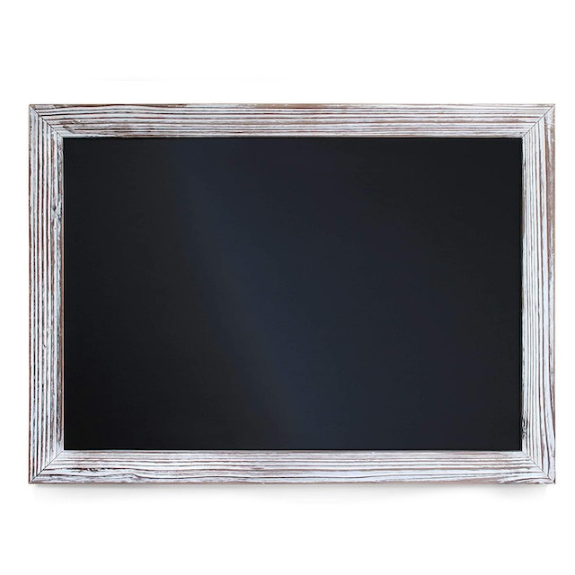 HBCY Creations Rustic Torched Wood Magnetic Wall Chalkboard