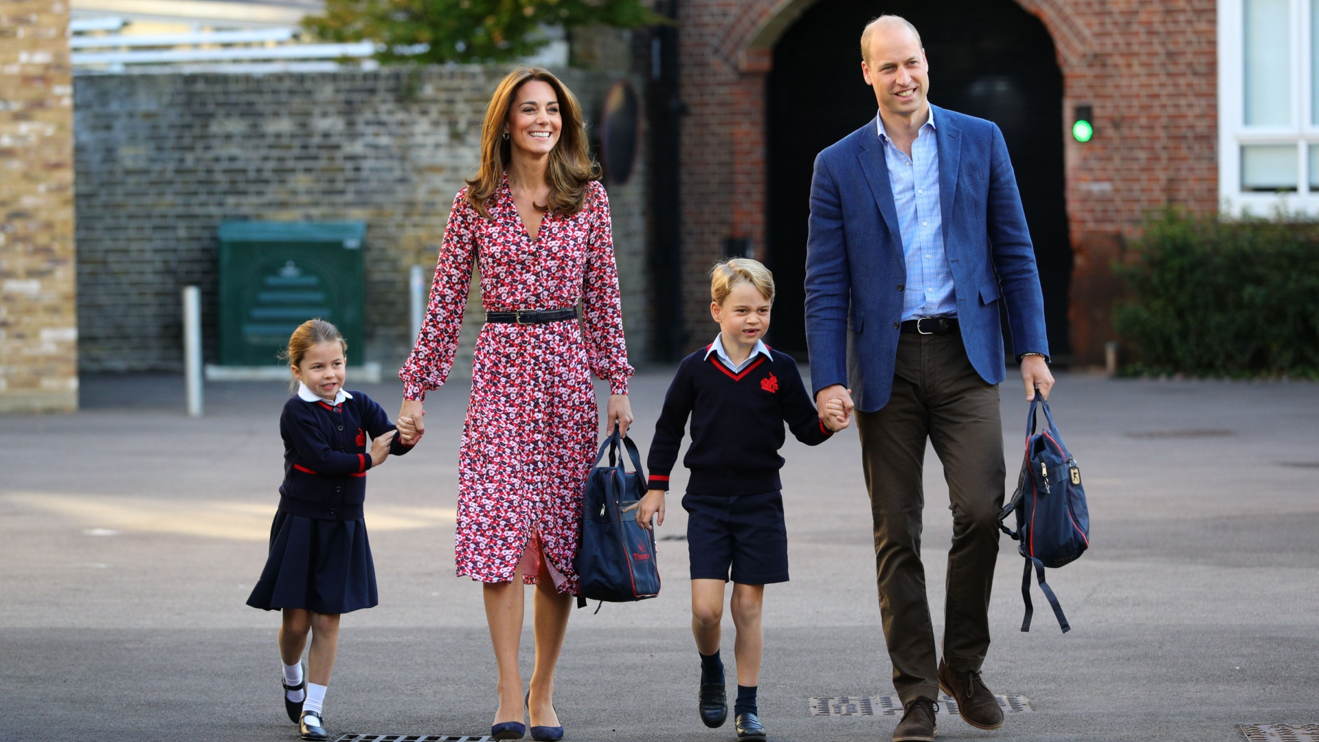Prince George, Princess Charlotte, & Prince Louis Are Too Cute in This New Family Photo