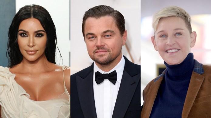 Kim Kardashian West, Leonardo DiCaprio, Ellen