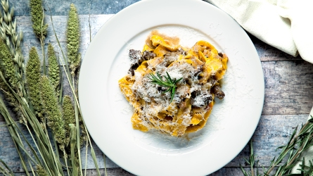 Pappardelle pasta served with beef cheek