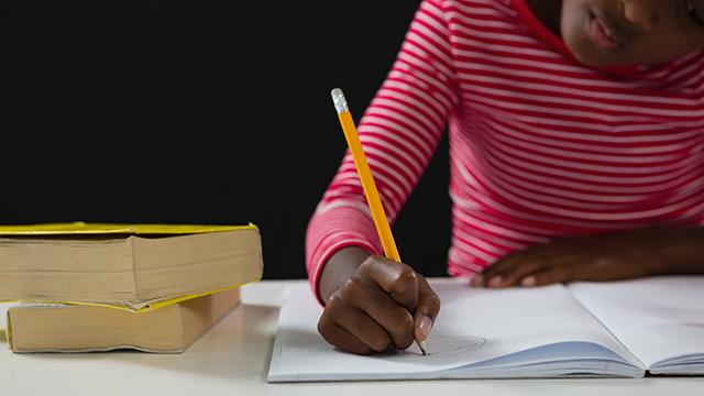 girl writing journal