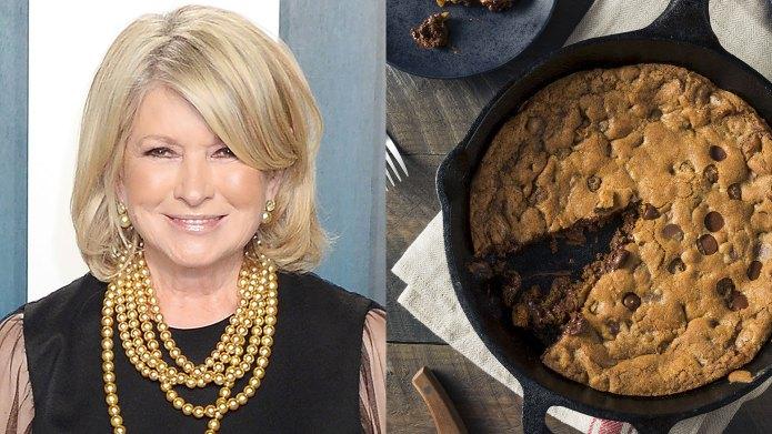 Martha Stewart skillet cookie