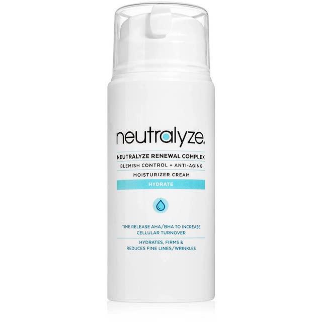 Neturalyze renewal complex best anti acne anti agining moisturizer on Amazon