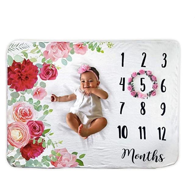 Novo Baby Baby Monthly Milestone Blanket