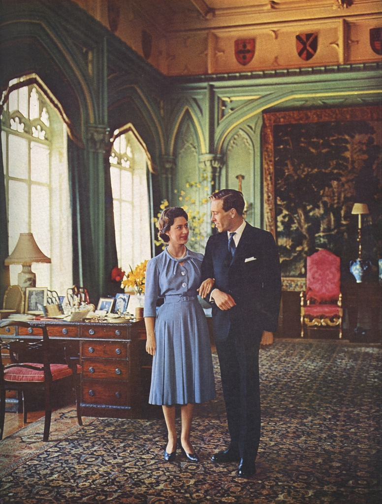 Princess Margaret Poses with Her Fiance Anthony Armstrong-jones at the Royal Lodge Windsor where They Were Spending the Weekend with the Queen Mother 1960Historical Collection 83