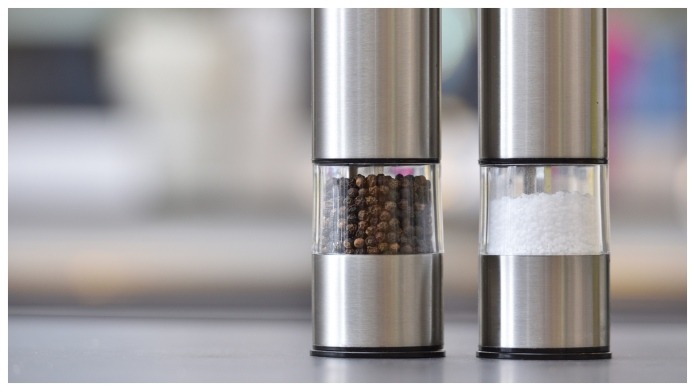 stainless steel salt and pepper grinders