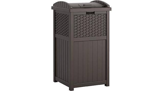 Suncast Best Outdoor Trash Can on Amazon