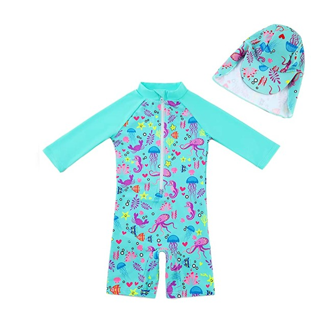 upandfast Baby/Toddler One Piece Zip Sunsuit