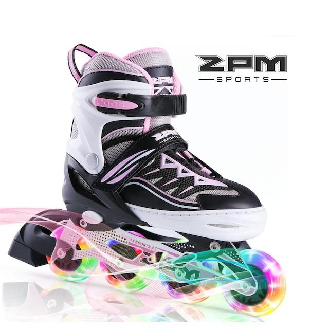 2PM SPORTS Girls Adjustable Illuminating Inline Skates