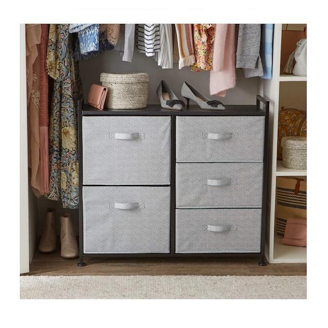 AmazonBasics Fabric 5-Drawer Storage Organizer