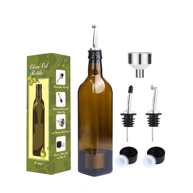 Aozita 17oz Glass Olive Oil Bottle